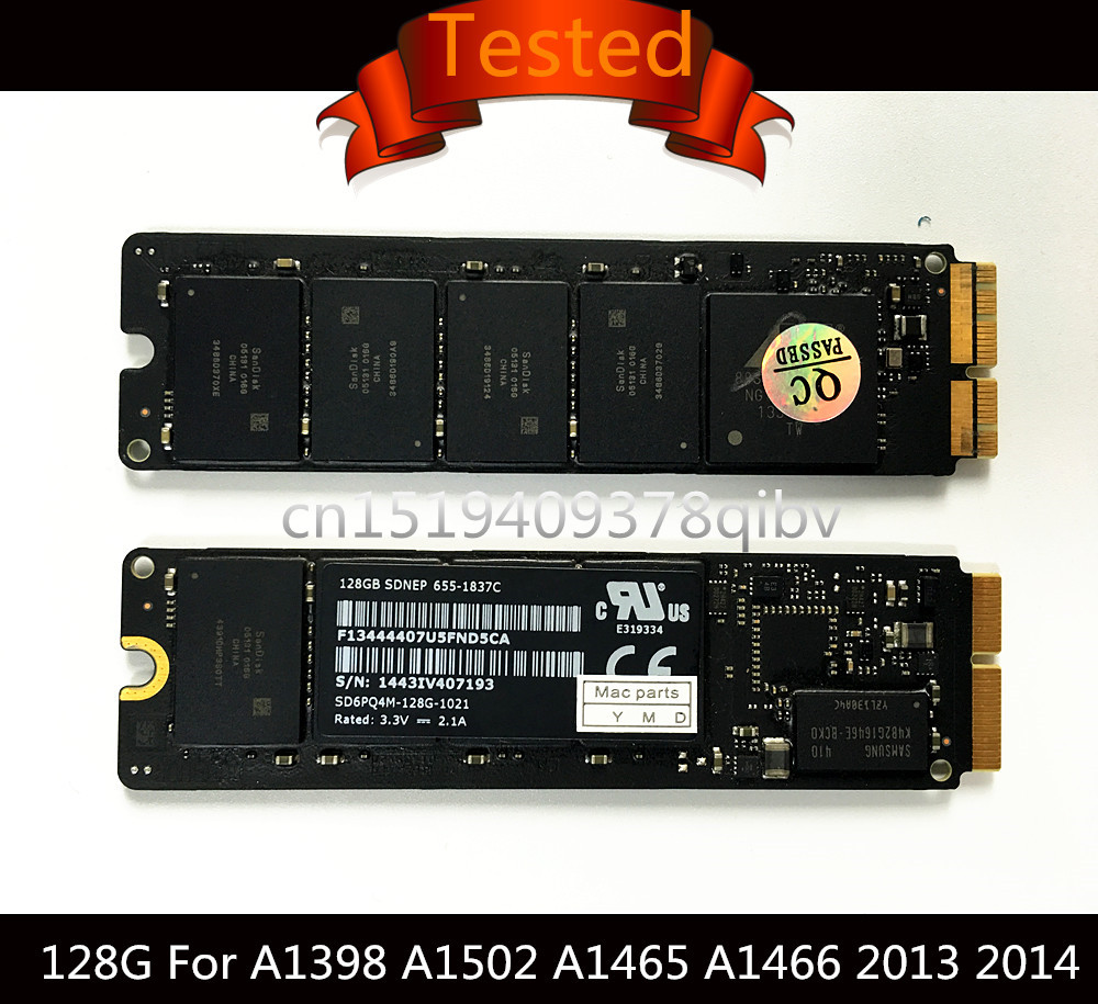 Tested Genuine 128G 256G 512G SSD for Macbook Air 11