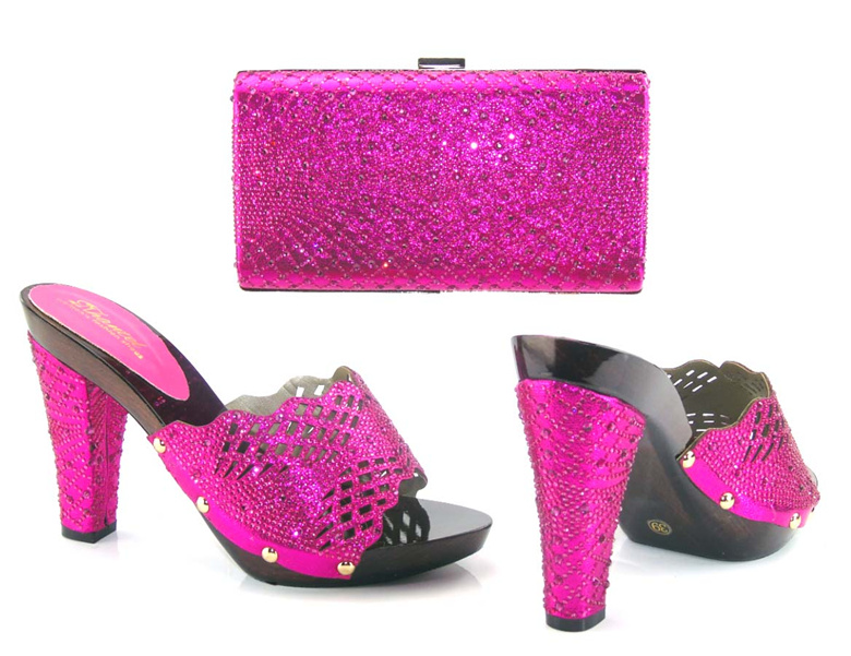 Elegant italian shoes with matching bags good quality shoes and bag set for lady free shipping