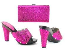 Elegantes zapatos italianos con los bolsos que emparejan zapatos de buena calidad y conjunto de bolsas para la señora! el envío gratuito! ETH7412-3