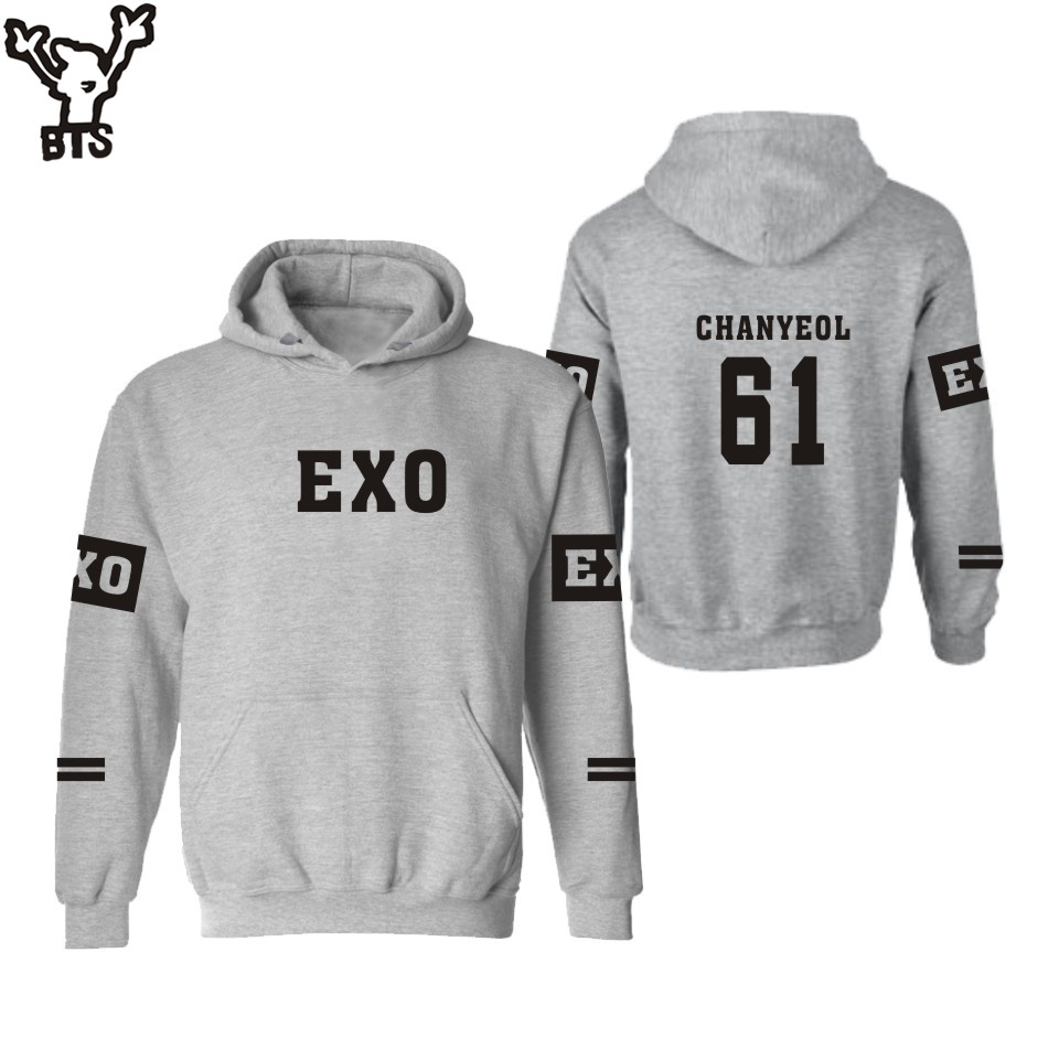 BTS EXO Kpop Hooded men/women hoodies sweatshirts set Autumn Winter sweatshirt women korean Black Plus Size XXS 4XL Hip Hop