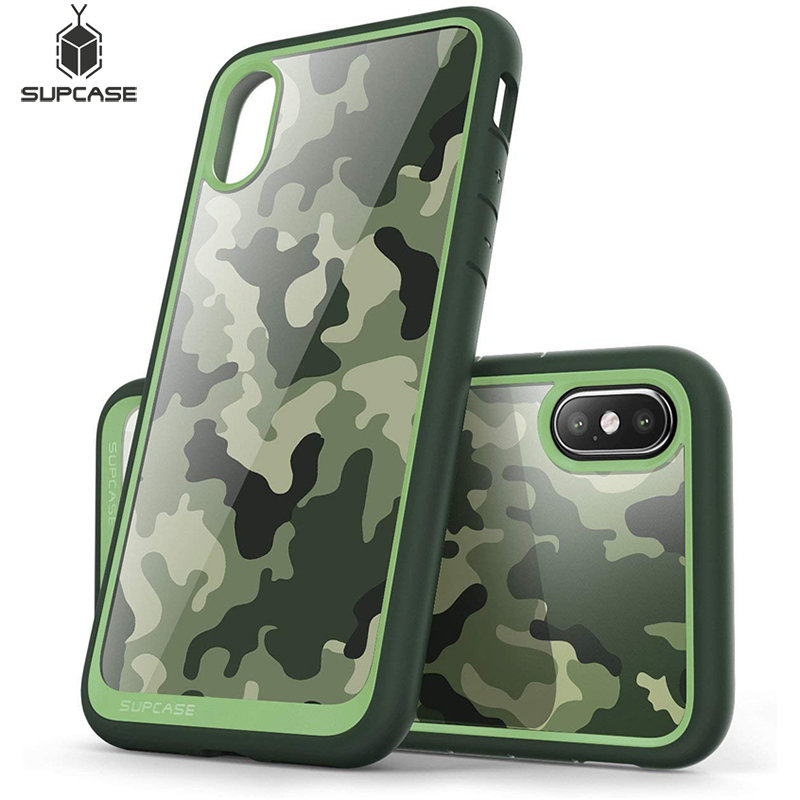 SUPCASE For Iphone X XS Case UB Style Premium Hybrid Protective Case TPU Bumper+Back Cover For Iphone X Xs 5.8 Inch (Camo/Green)