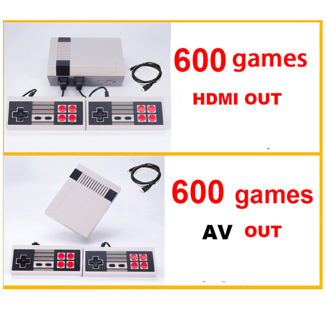 EastVita  HDMI /AV out Support PAL/NTSC Mini Console Video built-in 600 Games TV Handheld Game Player Video Game Console r30