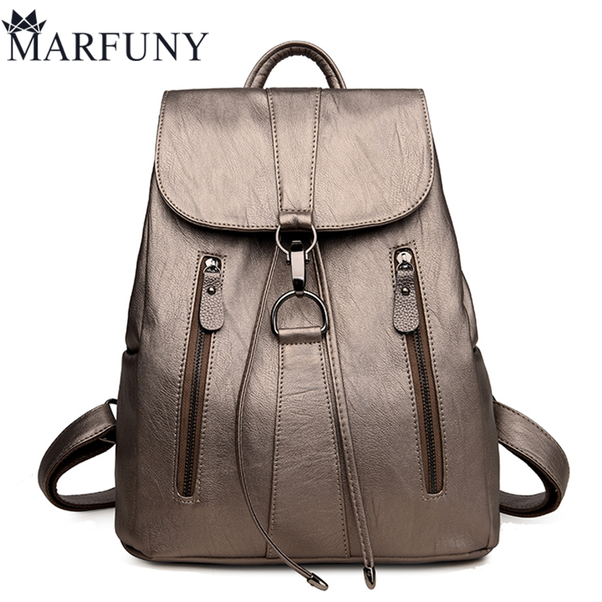 European And American Style Backpack High Quality Pu Leather Backpack Shoulder Bags Fashion Travel Backpack 2017 New Sac A Dos