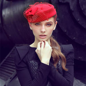 WOODONCE Elegant Wool White Women s Fedora Caps Lady Hat e0c1cf7dd80d