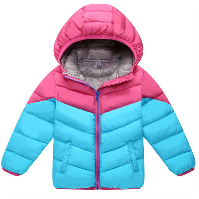 299ceb470b71 2018 Boys Girl Autumn Winter Coats Jacket Outerwear Fashion Hooded ...