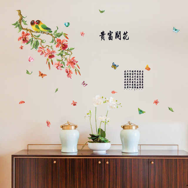 [Fundecor] flower butterfly wall stickers home decor living room bedroom kitchen Traditional Chinese wall  sc 1 st  AliExpress.com & Fundecor] flower butterfly wall stickers home decor living room ...