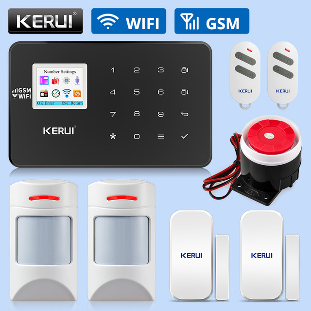KERUI W18 WIFI GSM Alarm Systems Security Home Wireless Smart Home Security Alarm APP Control Pet friendly Motion Detector Kits