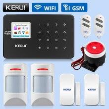 KERUI sistemas de alarma W18, WIFI GSM, de seguridad para hogar, ALARMA DE SEGURIDAD PARA EL HOGAR inteligente inalámbrico, Control por aplicación, Kits de detección de movimiento amigables con mascotas