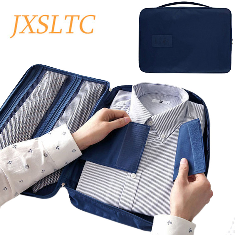 b70fc83ca6d2 JXSLTC Men s Nylon Luggage Travel Bags For Shirt Lightweight Packing  Organizer Garment Packing Cubes Luggage Suitcase
