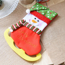 30cm Snowman Santa Elk-shaped Christmas Gift Socks Bag Decorative Pendant