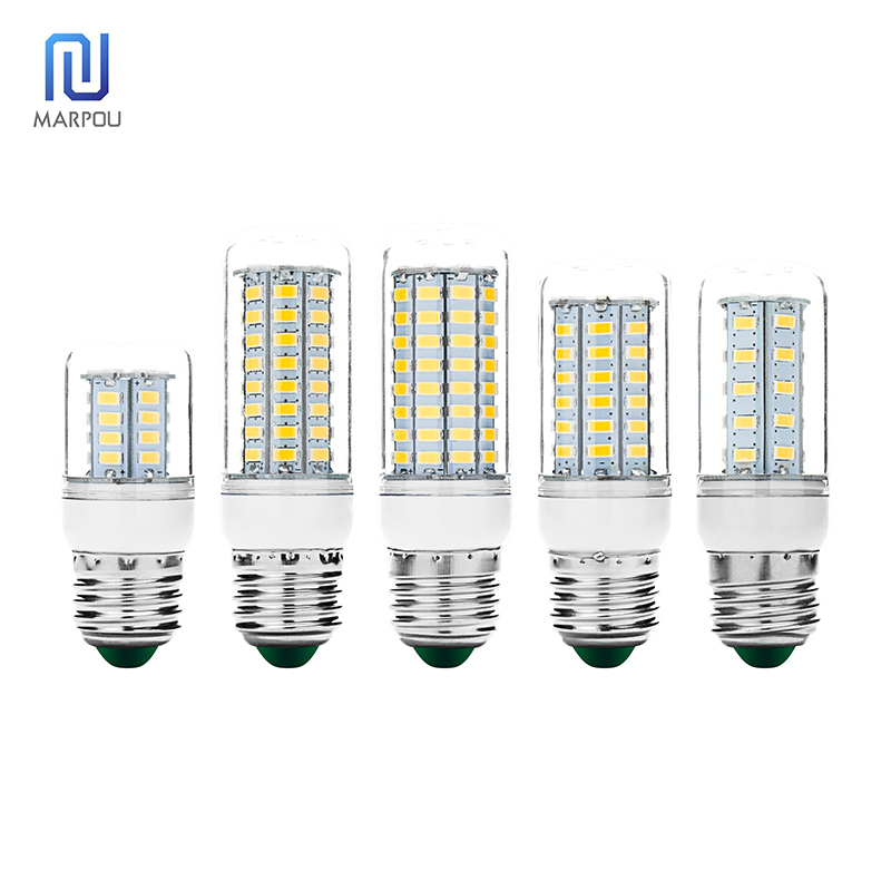 No Flicker LED Bulb E27 30 36 56 72 89LEDs High Brightness LED Corn Light 220V Lampada LED Spotlight For Chandelier Living Room