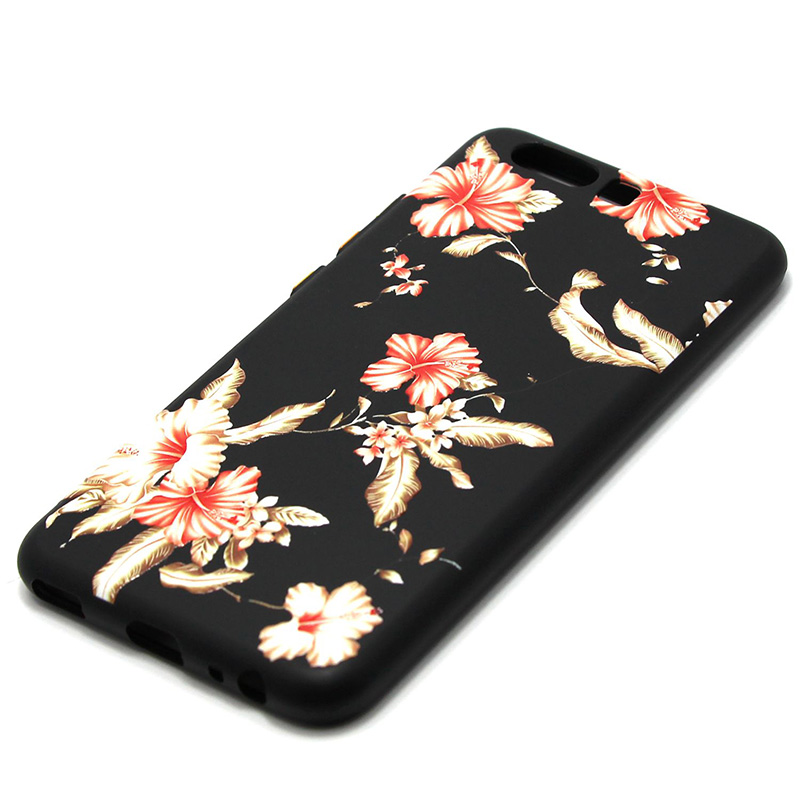 3D Relief flower silicone  case huawei p10 (37)