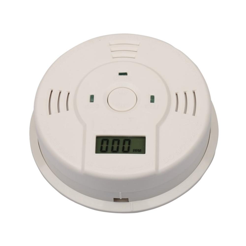 Sensitive 85db Carbon Monoxide Detector Sensor LCD Gas CO Alarm Tester Warn Battery Powered Loud Flash Alarm Lndicator Safety