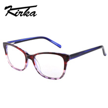 Kirka Women Eye Glasses Frames Purple Color Female Eyewear Frames in High Quality ,armacao de oculos de grau with Print