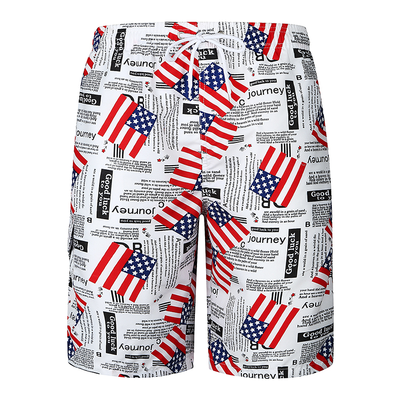 Shorts Mens Bermuda 2018 Summer Flags Printed Men Beach Hot Cargo Men Boardshorts Male Brand MenS Short Casual Fitness