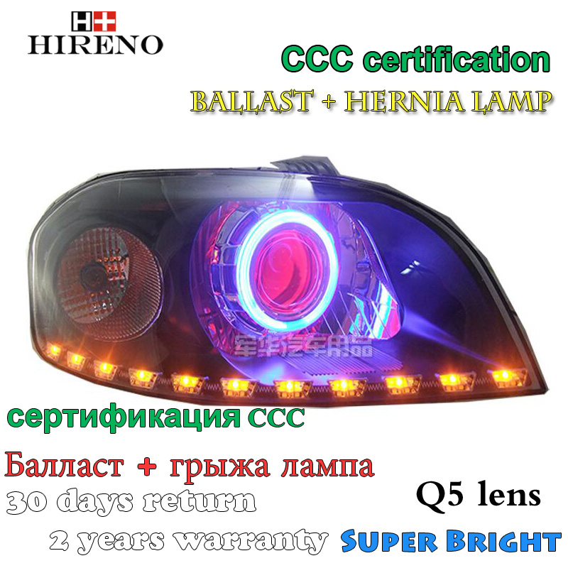 Hireno Modified Headlamp for Chevrolet Lova 2006-2008 Headlight Assembly Car styling Angel Lens Beam HID Xenon 2 pcs hireno headlamp for cadillac xt5 2016 2018 headlight headlight assembly led drl angel lens double beam hid xenon 2pcs