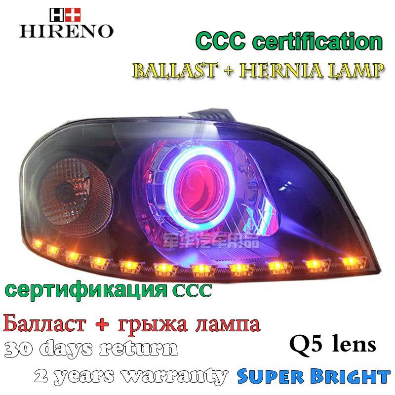 Hireno Modified Headlamp for Chevrolet Lova 2006-2008 Headlight Assembly Car styling Angel Lens Beam HID Xenon 2 pcs