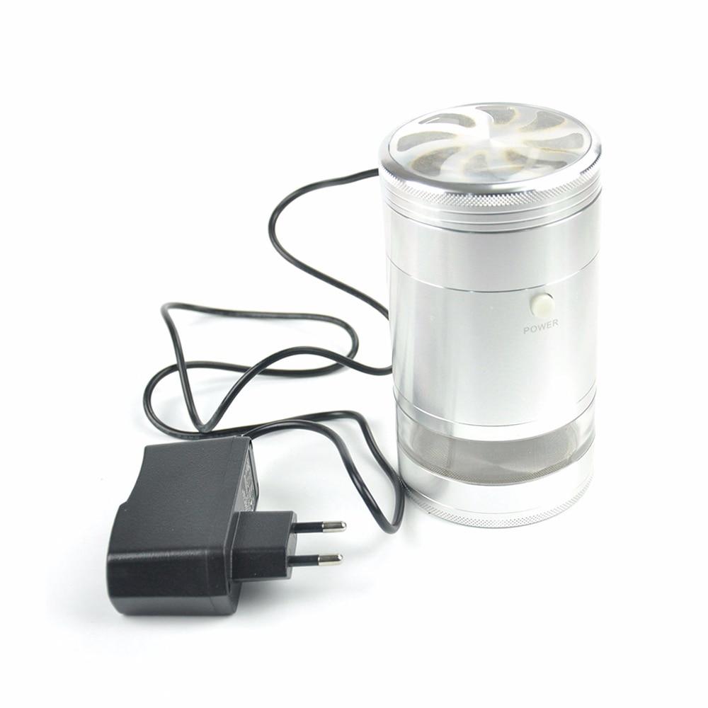 JIJU Elektrikli Taşlama Alüminyum Herb Öğütücü Sigara Araçları Ile Kırıcı Sigara Aksesuarları JL-129JA