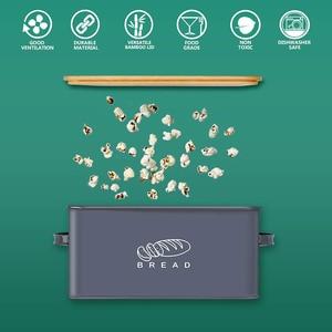 Image 4 - Saklama Kutuları Ekmek Kutuları Bambu Kesme Tahtası Ile Kapak Metal Galvanizli aperatif kutusu Kolları Tasarım Mutfak Konteynerler Ev Dekor
