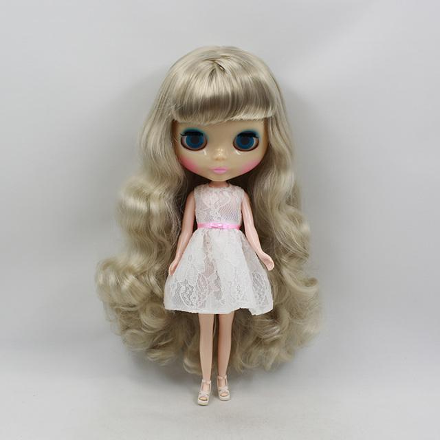 Factory Neo Blythe Doll Silver Grey Hair Regular Body 30cm