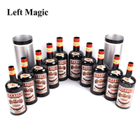 Multiplying Bottles 10 Bottles Black ( Poured Liquid) Magic Trick Stage Magic Props Close Up Mentalism Illusion Classic Toy