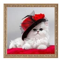 New Animal Cat Diamond Mosaic Full Diamond Embroidery 5D Diy Diamond Painting Cross Stitch Square Diamond