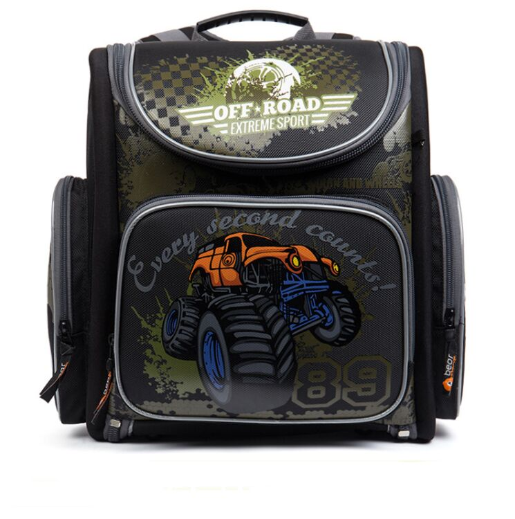 Russian Big Brand Grizzly Children School Bags Foldable Orthopedic Backpack Boys 3D Racing Cars Book Bag Primary School KnapsackRussian Big Brand Grizzly Children School Bags Foldable Orthopedic Backpack Boys 3D Racing Cars Book Bag Primary School Knapsack