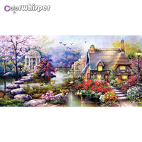 Diamond Painting Full Square/Round Cartoon Scenery House Villa Picture Daimond Mosaic Rhinestone Embroidery Painting Gift 853DP