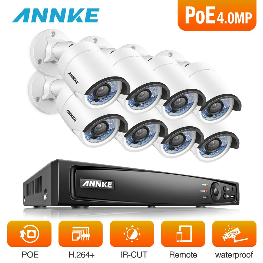 ANNKE 8CH 6MP POE NVR Video Security System With 8pcs 4mm 4MP Weatherproof Infrared Night Vision Cameras Motion Detection 3D DNRANNKE 8CH 6MP POE NVR Video Security System With 8pcs 4mm 4MP Weatherproof Infrared Night Vision Cameras Motion Detection 3D DNR