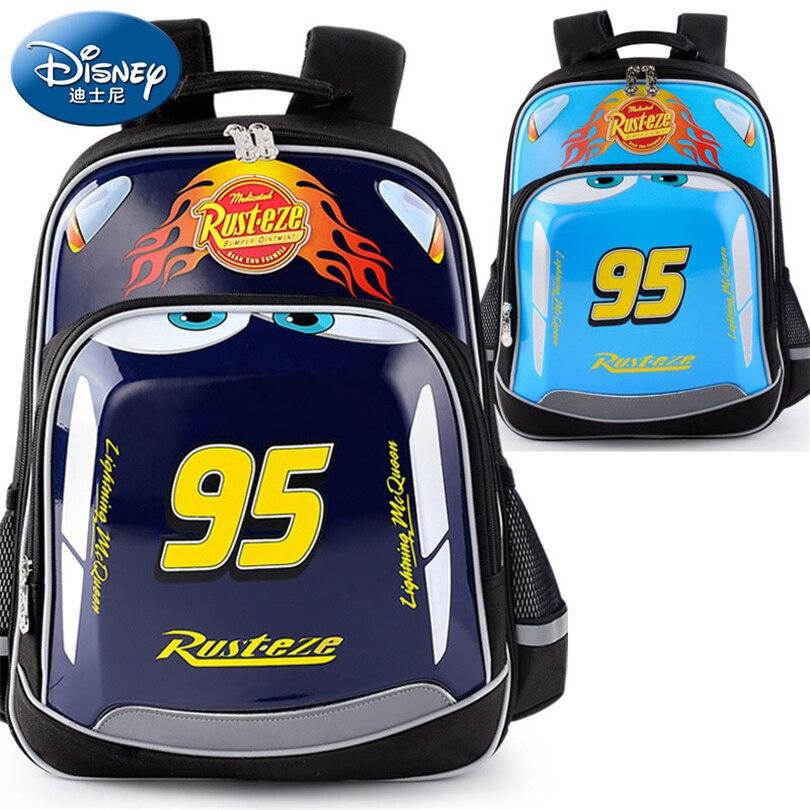 Disney 2018 Waterproof Orthopedic Backpack School Bags for Boys Fashion Cartoon Number Schoolbag Kids Satchel Grade 1-3 дисней disney детский школьный портфель студентов мужского пола в младших классах 1 3 grade автомобили обременяет мешок плеча 1 grade 3 rb0085b navy