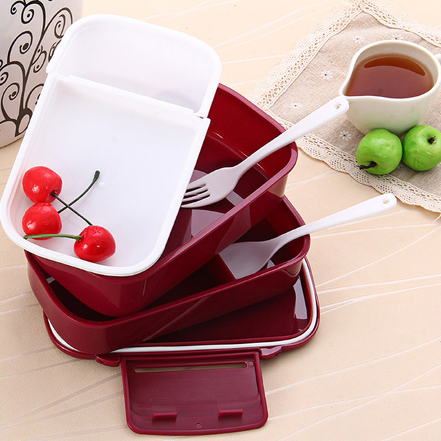 BPA Free Large Capacity Double Layered Lunch Box