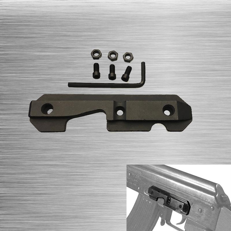 <font><b>AK47</b></font> Steel Dovetail Side Plate AK-47 Steel Side Dovetail <font><b>Scope</b></font> <font><b>Mount</b></font> Rail Model TL-M47SR Free Shipping image