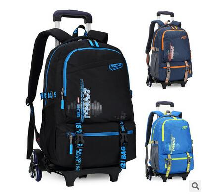 Brand Kids Children School Trolley Backpack On wheels Boy s Trolley Suitcase Kids luggage Bags Rolling