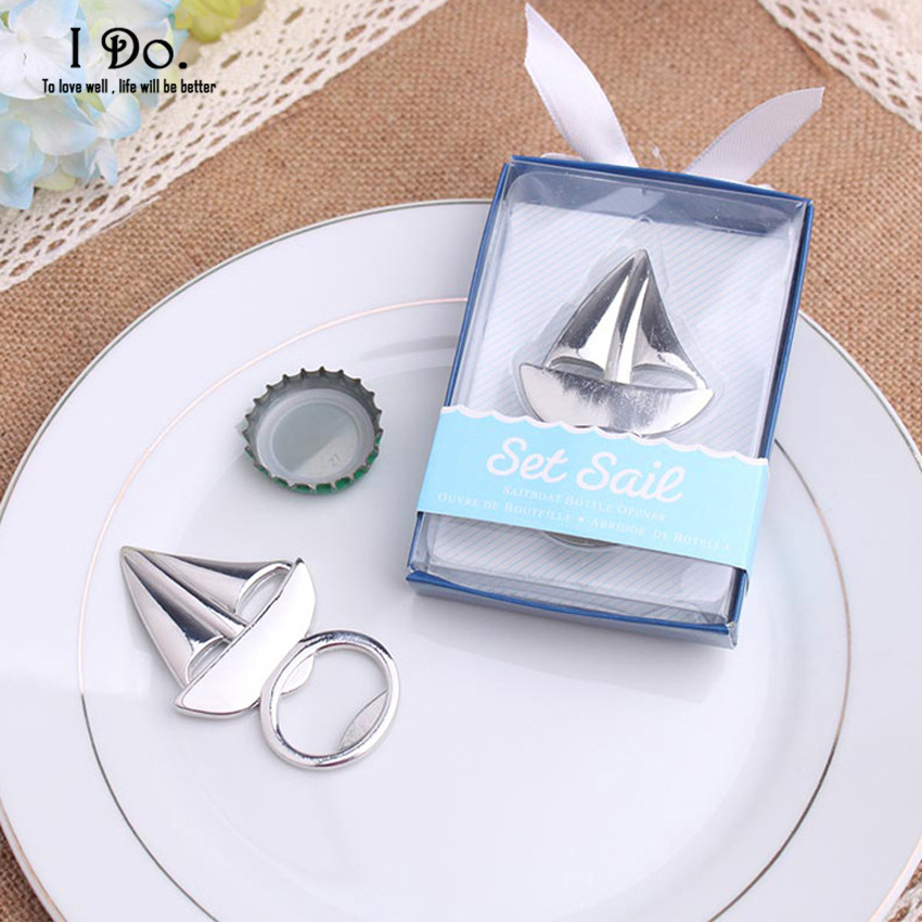 Free Shipping Sailing Boat Bottle Opener Wedding Favors And