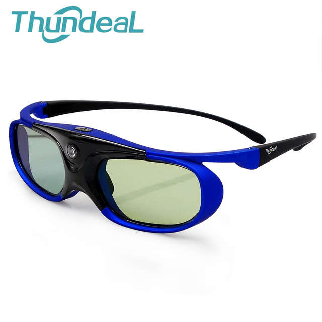 Óculos de Obturador Ativo DLP Projetor 3D Thundeal 96-144 hz Bateria  Universal Para Optoma 4d24d29fef