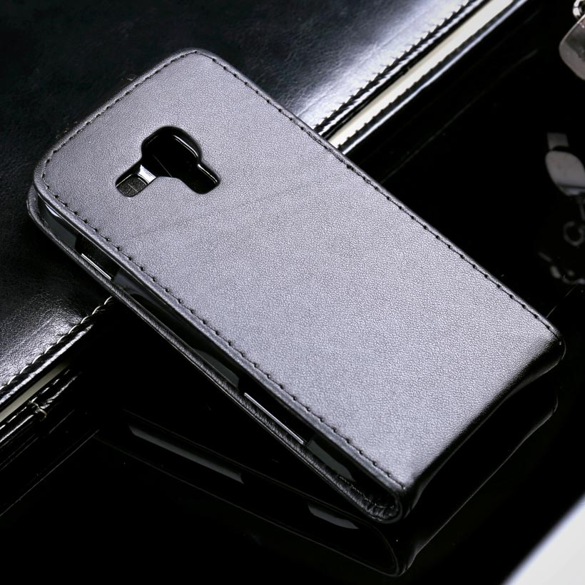 Black PU Leather Mobile Phone Case For Samsung Galaxy Trend Plus GT S7580/Trend Duos GT S7562 S7560 GT-S7562L/S Duos S7582 Cover