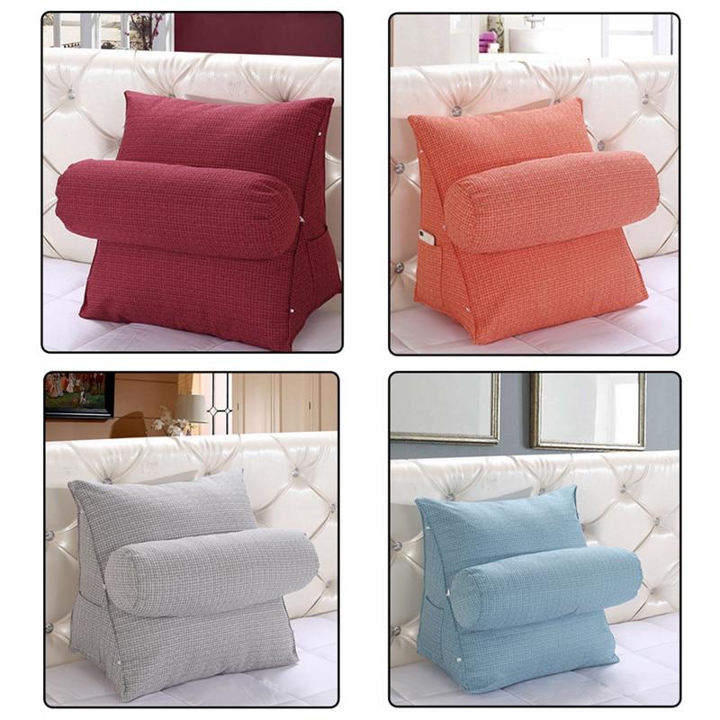 Comfortable Soft Pillow Cushion Washable Sofa Headrest