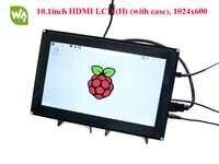 Waveshare Raspberry Pi HDMI 10.1 pollici LCD (H) 1024x600 Capacitivo Dello Schermo di Tocco con il caso per Raspberry Pi & BB Nero