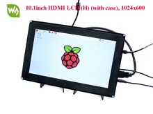 Raspberry Pi 10.1 inch Capacitive 1024x600 Touch Screen LCD with HDMI VGA AV(CVBS) Input Support Multi mini-PCs Multi Systems  недорого