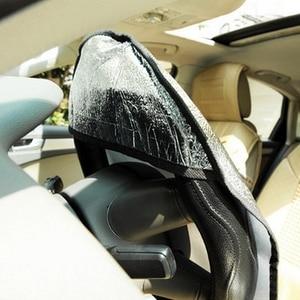 Image 3 - 20Pcs Car Steering Wheel Sunshade 2 Layer Silver Auto Sun Shade Sun Protection Jacket Insulated Aluminum Foil Handlebar Cover