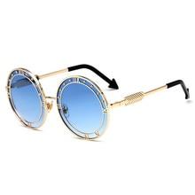 Vintage Round Sunglasses for Women 2018 New Unique Legs Metal Frame Men Sun Glasses Circle Glasses UV400 Hiking Eyewear все цены