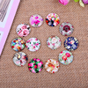 Vintage Round Flatback Countryside Flower Photo Glass Cabochons 25mm 20mm 18mm 14mm 12mm 10mm