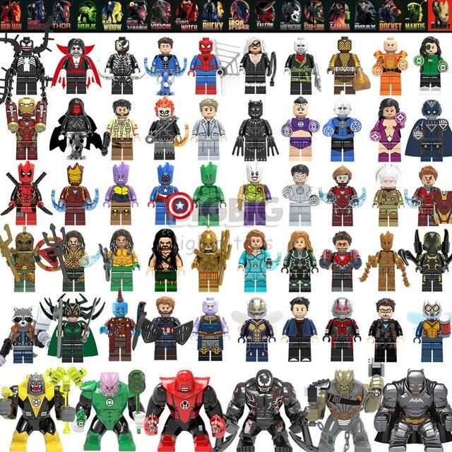Maravilhas Vingadores Thanos spiderman Venom Motim Aquaman Blocos Hulk Buster GK30 playmobil Figuras brinquedos Para As Crianças presentes
