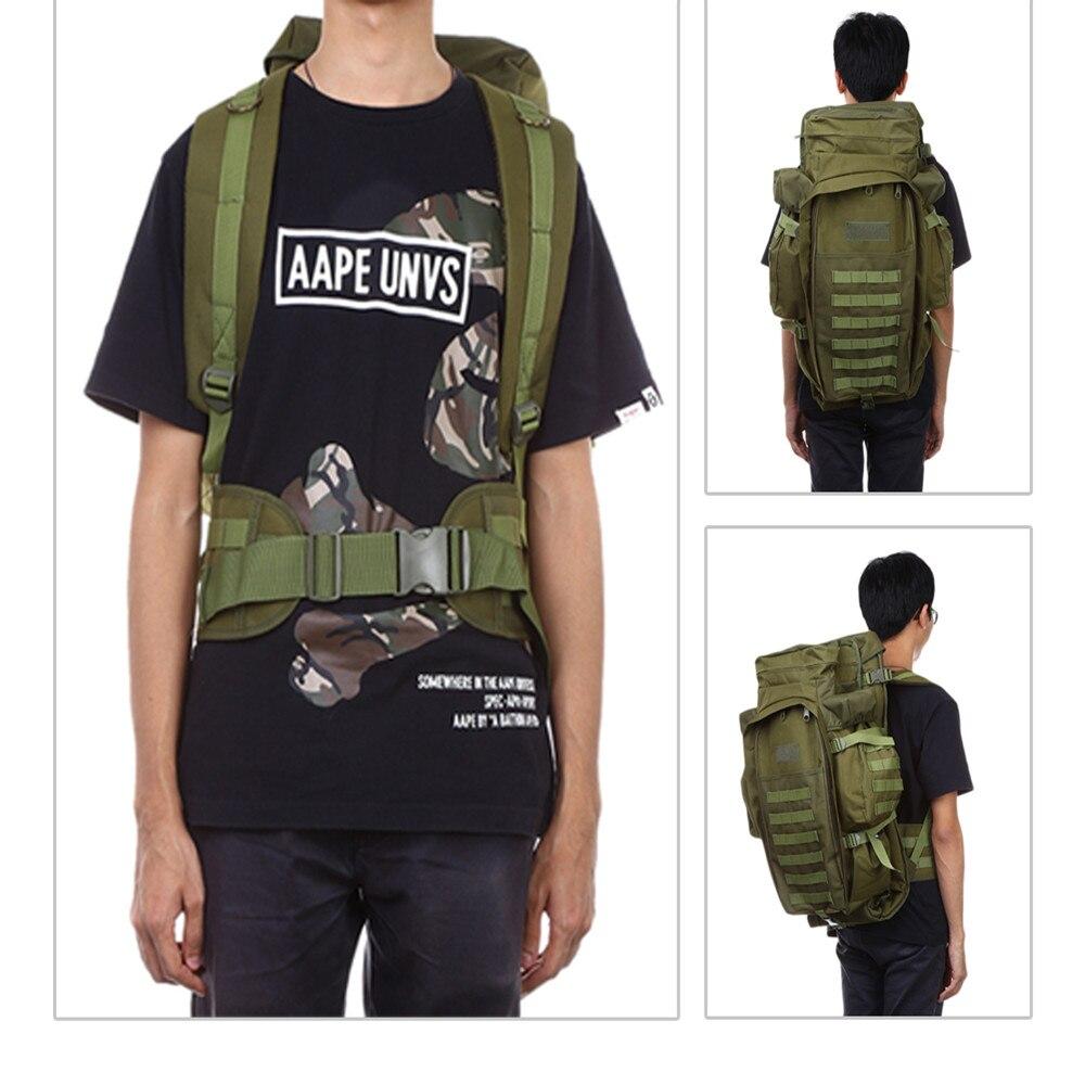 60L Outdoor Sporttasche Nylon Militärische Taktische Pack Rucksack ...