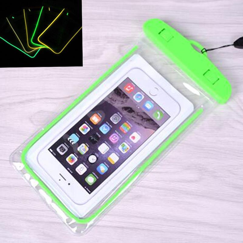 Bolsa impermeable con bolsa luminosa de teléfono bajo el agua para - Accesorios y repuestos para celulares - foto 4
