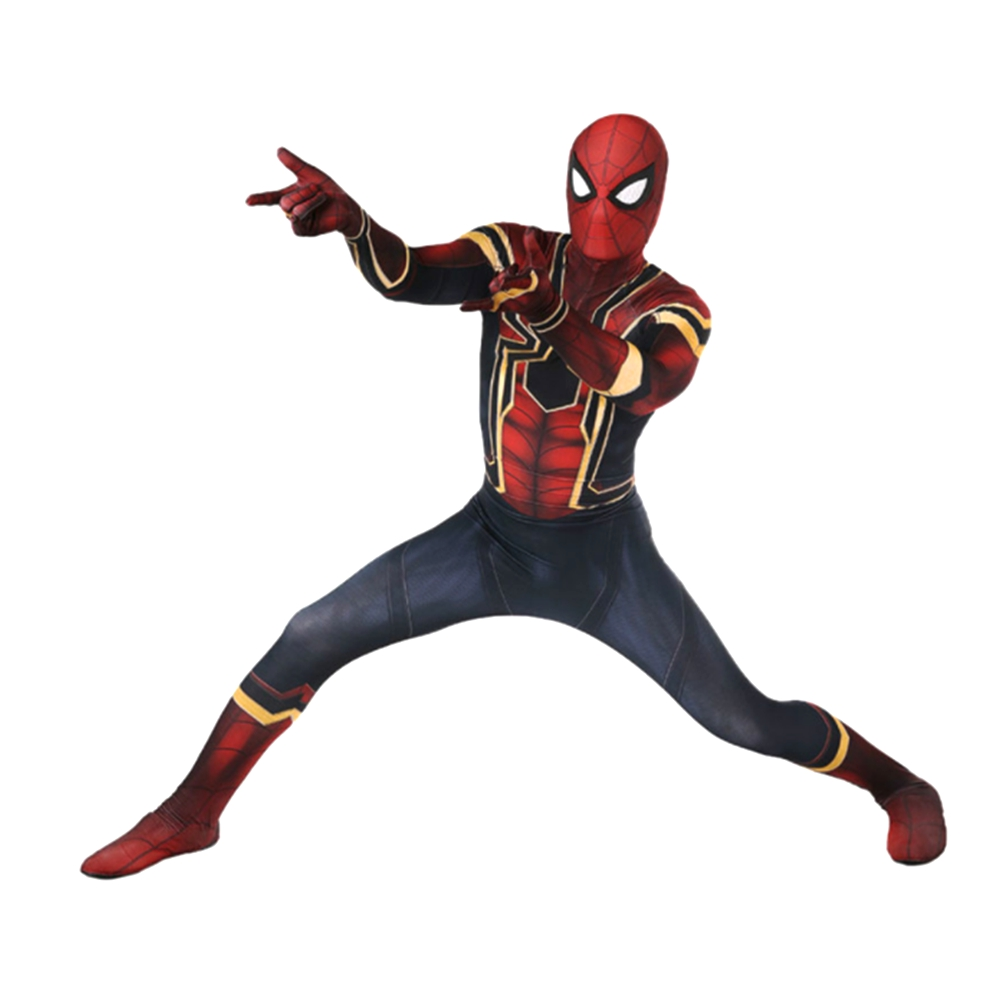 Spider Cosplay Costume Avenger Infinity War Tom Holland Iron Spider Suit 3D Print Spandex Zentai Suit Adult Kids