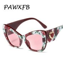 Wholesale PAWXFB 2019 New Cat Eye Sunglasses Women Retro Oversized Brand Designer Heart-shaped Frame Sun glasses(A lot 3 Piece)