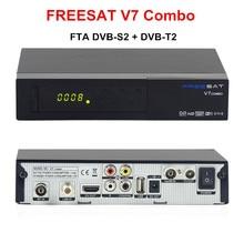 Original V7 Freesat Combo DVB-S2 FTA/DVB-T2 HD Receptor Digital de Satélite Powervu, Cccam bisskey