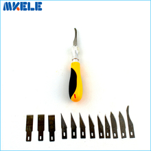 12Pcs Blades/Set Carving knife Alloy steel blade Wood Engraving cutting Sculpture Knife Scalpel Cutting PCB Circuit Board Repair