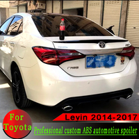 High Quality ABS Material Black or white or silver or primer car rear wing Spoiler For 2014 2016 Toyota Corolla or Levin